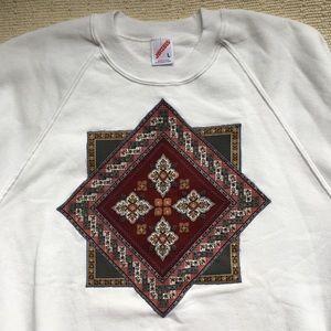 Vintage 80s Patchwork Crewneck Sweatshirt